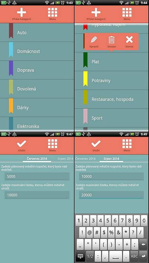 2014 datování aplikací pro Android